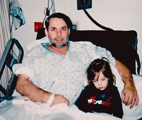 father and daughter in hospital