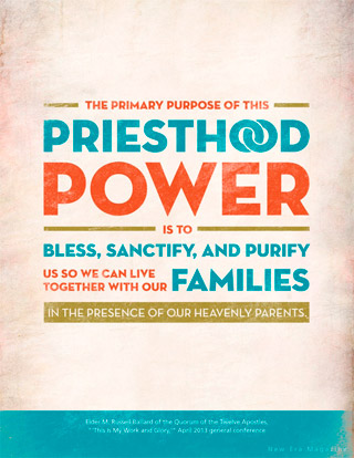 priesthood power card
