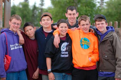 seven young men