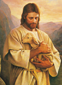 Christ with lamb