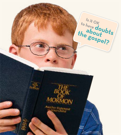 young man with Book of Mormon