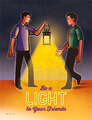 boys with lantern