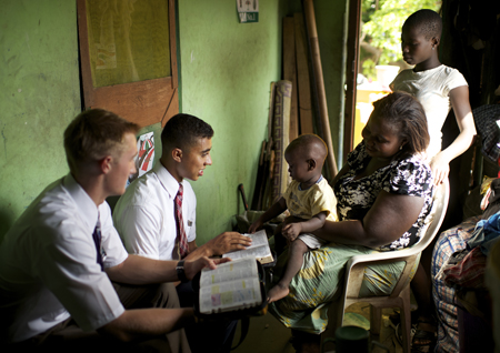 missionaries teaching
