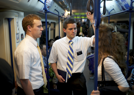 missionaries on mass transit