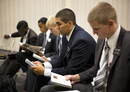 missionaries in meeting