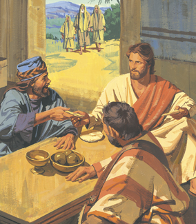 Jesus christ with publicans and sinners