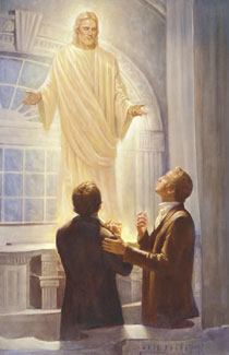 Joseph Smith and Oliver Cowdery in the Kirtland Temple