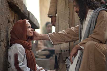 woman with Jesus Christ
