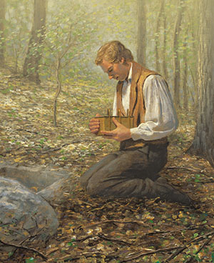 Joseph Smith at Cumorah