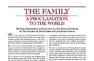 The Family: Proclamation to the World
