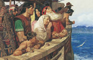Lehi and Nephi on the Ship