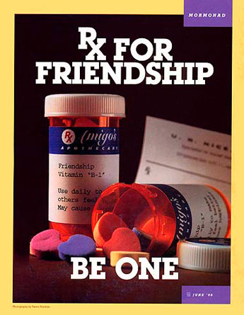 RX for friendship mormon ad