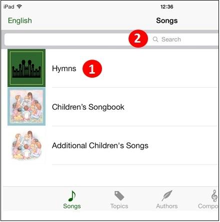 Sacred <b>Music</b> App Help