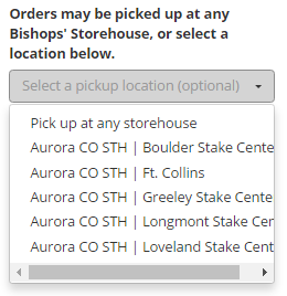 Lds Food order form